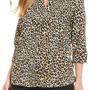 Gold Label Cheetah Print Button Down Blouse-14